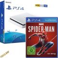 PS4 Konsole Sony 500GB SLIM white new CUH-2116A F-Chassis + Spider-Man