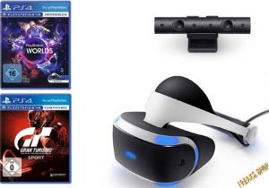 PS4 VR-Headset + Camera + GT Sports + VR Worlds