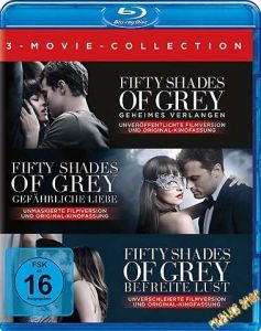 Blu-Ray Fifty Shades of Grey  Movie Collection  + UV  3 Discs