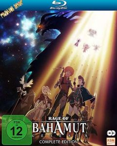 Blu-Ray Anime: Rage of Bahamut - Genesis  Complete Edition  -Schuber-  Min:299/DD/WS